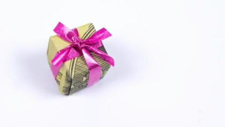 diy手工制作 神奇的折纸  圣诞创意礼物一元钱折纸教学视频
