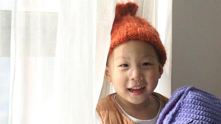 毛儿手作棒针帽子宝宝花蕾毛球帽教程编织教程与图解