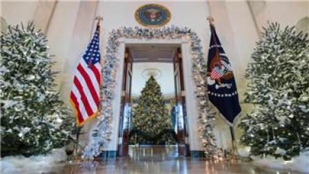白宫圣诞装饰曝光耗时1600余小时预计将有2.5万人受邀参观