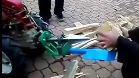 农村大叔自制劈柴神器, 以后斧头可以退休了!