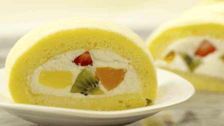 来下厨吧 第一季 松软细腻的奶油水果蛋糕卷 这样做老人小孩都爱吃 55