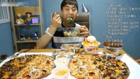 大胃王奔驰小哥吃巨无霸披萨和冰激凌, 小哥这吃相是真的美如画