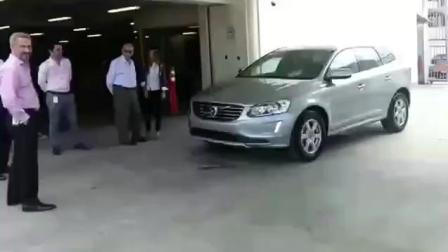沃尔沃演示, 自动刹车失灵, 一脚油门踩下去撞飞老板