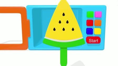 橡皮泥手工制作冰淇淋 西瓜水果