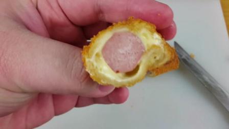 土司热狗面包, 做法简单, 好吃又美味早餐不错的选择!