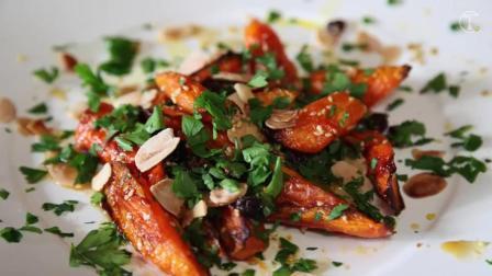 简单易做 适合冬天和圣诞节的料理: 香烤蜂蜜胡萝卜│Honey Roasted Carrots