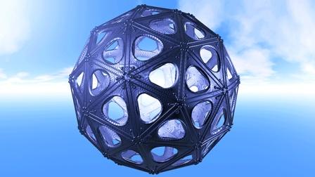 C4D制作科幻球体视频教程