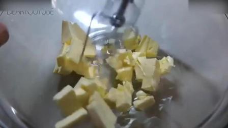 蛋糕裱花教学视频烘焙教学-元气满满的黄金磅蛋糕! 打发淡奶油