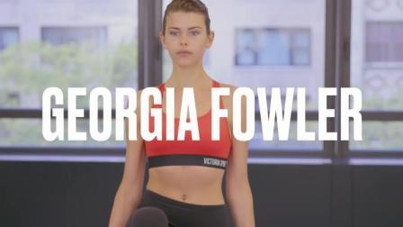 新西兰超模 Georgia Fowler 日常健身视频~ 很多动作妹子们都能get起来哦