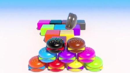 制作蛋糕和汉堡玩具视频彩泥 制作冰淇淋的玩具模具视频78