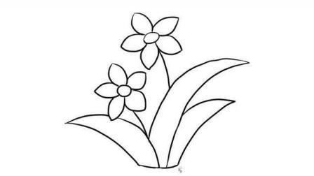 漂亮的水仙花儿童亲子简笔画 宝宝轻松学画画