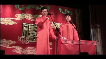 郭德纲徒弟孟鹤堂再德云社小剧场演出时, 遇到观众砸杯子, 接着现挂就来了
