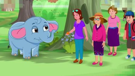 儿童英文故事短片Boy  and baby elephant