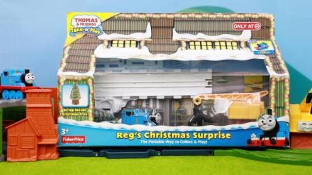 托马斯和他的朋友们玩具 第一季 托马斯磁性小火车运送圣诞树
