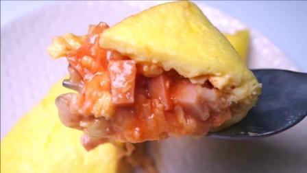 【芝士火腿鸡蛋卷】别人的锅卷蛋卷怎么那么好看系列! how to make Omelet