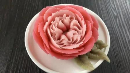 玫瑰花裱花教程 奶油玫瑰花的挤法视频 裱花视频