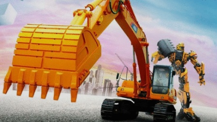 推土机 挖掘机工作视频 儿童工程车表演 挖掘机动画片中文版 物资运输