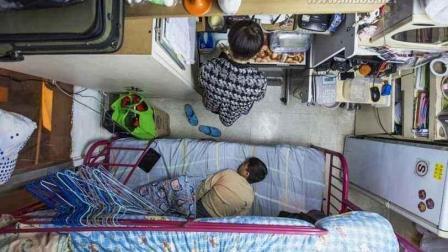 55平米分成19个房间出租, 实拍香港难以置信的蜗居