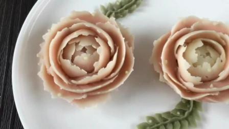 简单好看的裱花蛋糕图 豆沙玫瑰花裱花视频 蛋糕裱花花边基础手法