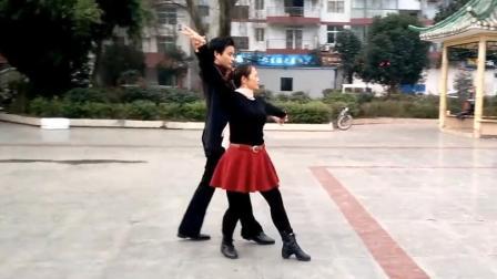 广场舞双人交谊慢四对跳 经典健身操梅花泪