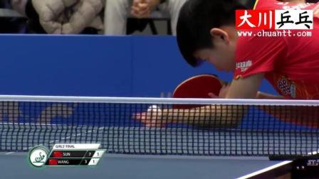 孙颖莎vs王曼昱【2017年世界青年乒乓球锦标赛】双冠王