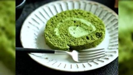 抹茶蛋糕卷, 甜而不腻诱人美味, 制作方法非常简单!