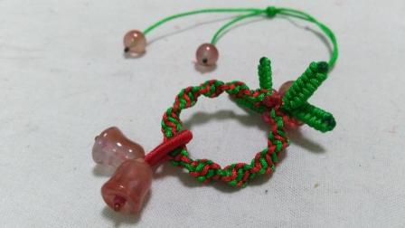 圣诞花环小吊坠编织教程