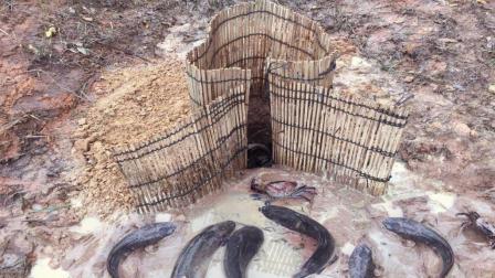神了! 农村大叔从祖上继承下来的密制诱饵, 鱼和螃蟹疯狂往里钻
