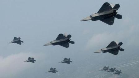蝗虫过境 美韩军演f22战斗机全程飞行实拍