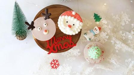 小卷老师的圣诞奶油杯蛋糕