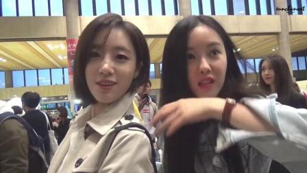 TARA 咸恩静跟朴孝敏一起合照, 挑衅朴智妍的接机视频 !