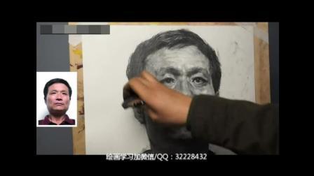 油画零基础教学视频水彩树_美术高考培训人体素描教程