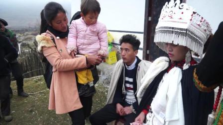彝人视角摄影现场彝族结婚彝族婚礼彝族亲友都不舍新娘被抢走