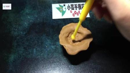 手工DIY奶油黏土樱桃冰淇淋 第一次是不是很失败?