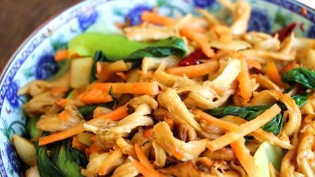 我的食记 第一季 10分钟搞定快手菜青菜炒面筋 在家吃这个 蒸一锅米饭不够吃 156