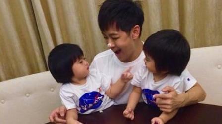 林志颖为双胞胎儿子庆生, 父子上演蛋糕大战