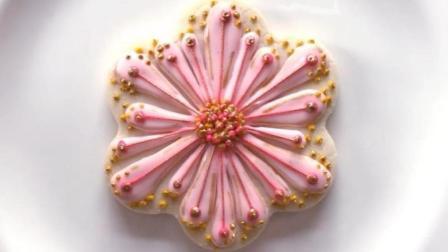 粉嫩嫩的糖霜饼干花, 其实做起来没你想的那么难!