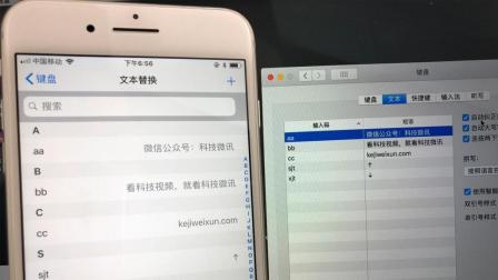 iPhone 文本替换: 一个有趣的发现