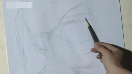 初学素描入门基础视频 素描头像结构分析图 怎么用铅笔画动漫人物