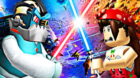 【屌德斯&小熙】 Roblox史诗小游戏模拟器 全新星球大战主题枪战绝地武士兄妹称霸全场!