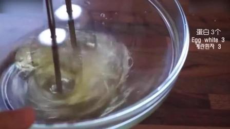 慕斯蛋糕教程烘焙教学-榛子烤布林蛋白饼2蓝莓慕斯蛋糕