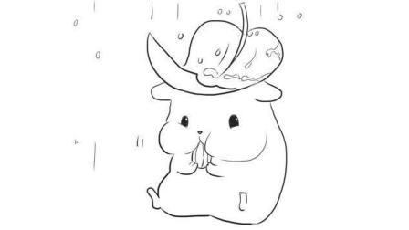 吃东西的可爱小仓鼠儿童亲子简笔画 宝宝轻松学画画