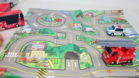 小公交车太友变形汽车闪电来袭超酷儿童玩具亲子游戏互动