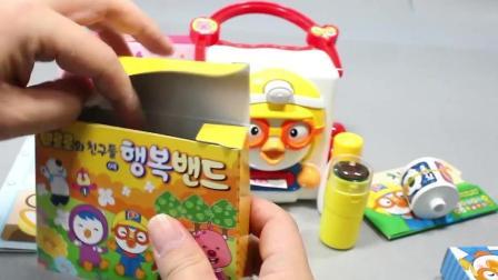 小企鹅波鲁鲁生日快乐胶卷贴纸玩玩具娃娃儿童故事