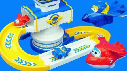 超级飞侠的控制塔滑梯儿童玩具