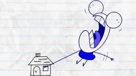 铅笔画小人与方形空间, 最后得到一个道理