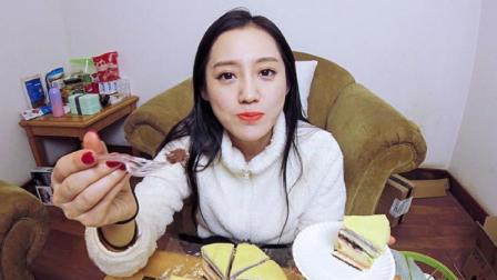 开箱大魔王 第一季 萌妹子花式试吃网红千层蛋糕