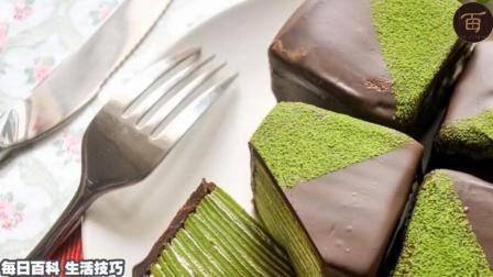 美食自己做-巧克力抹茶千层蛋糕