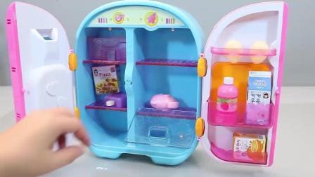 有趣的冰箱玩具, 美味的水果和蔬菜, 可爱的冰激凌机