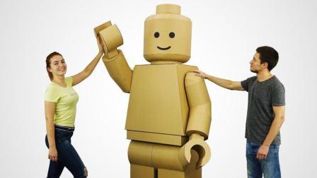 多余的废纸板别扔了, 稍加利用可造实体机器人